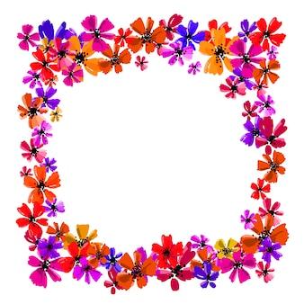 Quadro floral desenhado de mão com espaço de cópia