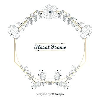Quadro floral desenhado de mão