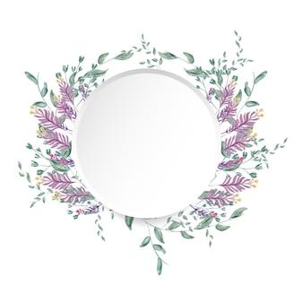 Quadro floral em aquarela