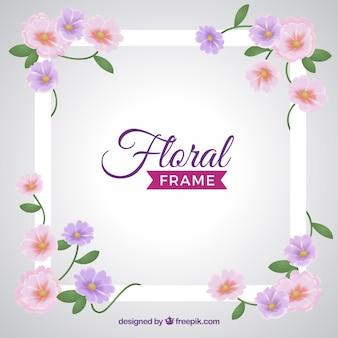 Quadro floral em estilo realista