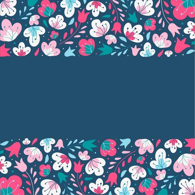 Quadro floral fofo