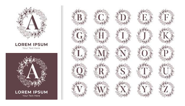 Quadro floral para logotipo de marca e design de cartão de convite
