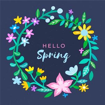 Quadro floral primavera desenhados à mão