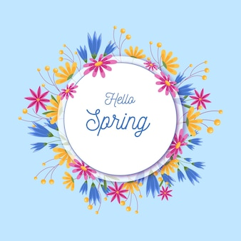 Quadro floral primavera detalhado