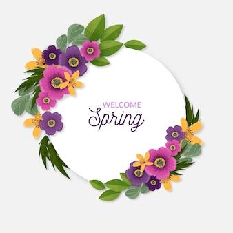 Quadro floral primavera realista