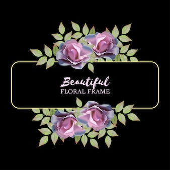 Quadro floral rosa realista