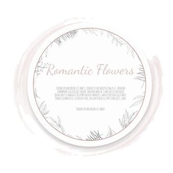 Quadro floral. saudação, modelo de convite de casamento de cartão postal.