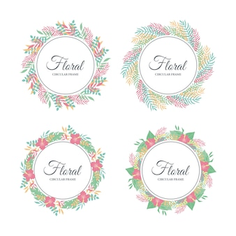 Quadro floral tropical fofo, folhas tropicais exóticas e borda floral