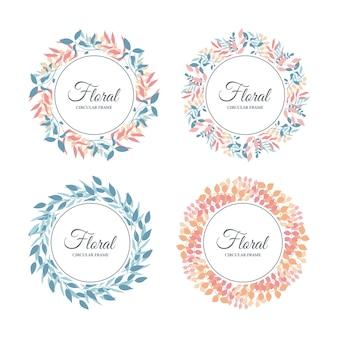 Quadro floral tropical, folhas tropicais exóticas e borda floral