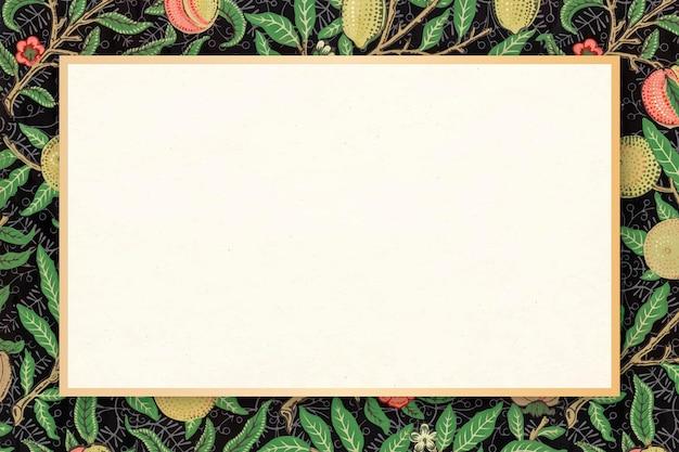 Quadro floral vetor padrão william morris vintage