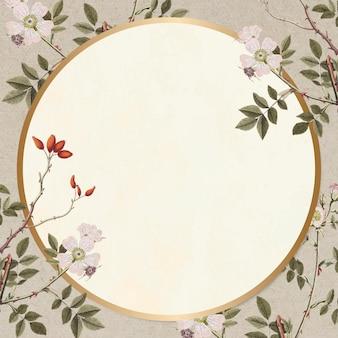 Quadro floral vetor vintage desenhado à mão