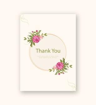 Quadro floral vintage com modelo de cartão de convite