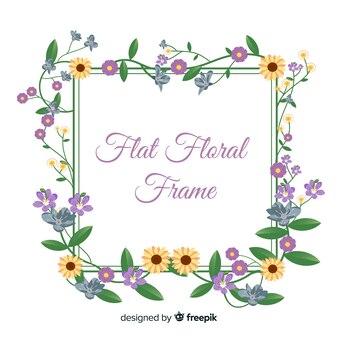 Quadro floral Vetor grátis