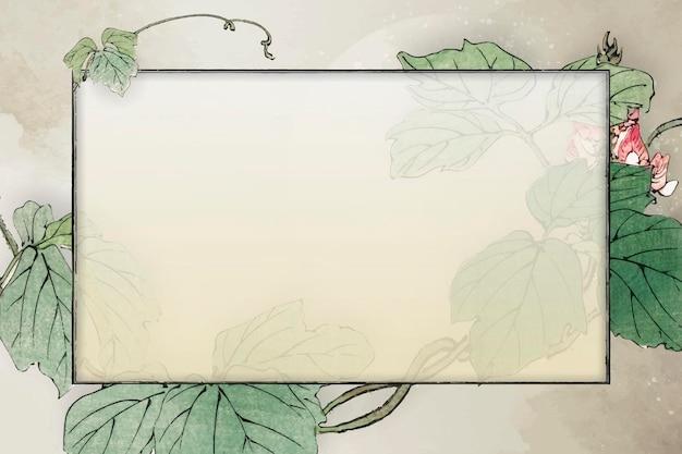 Quadro frondoso de retângulo em branco