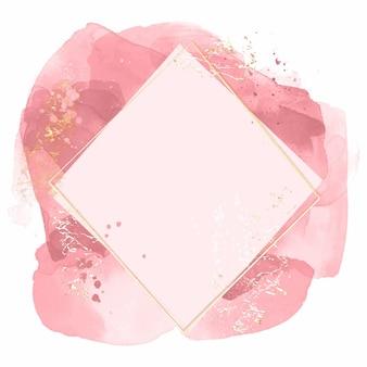 Quadro geométrico aquarela abstrato