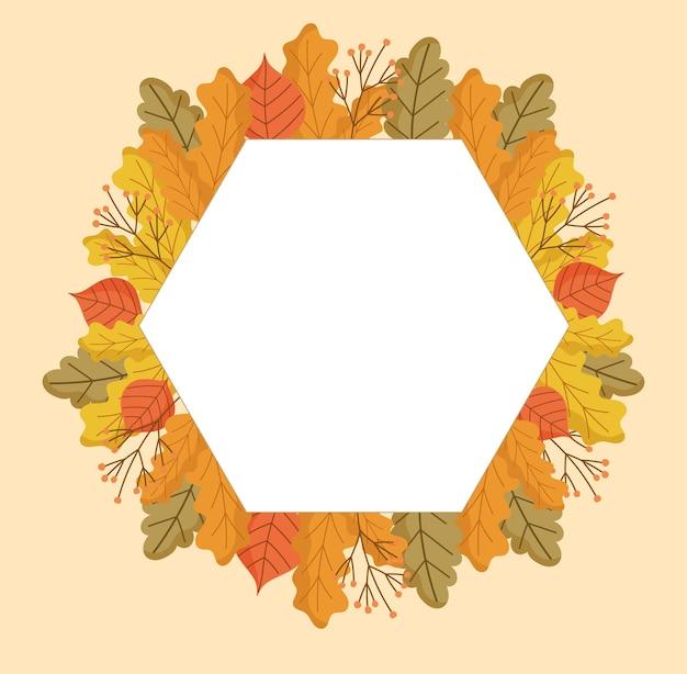 Quadro geométrico de outono