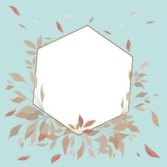 Quadro geométrico floral elegante