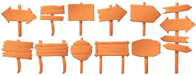 Quadro indicador de madeira.