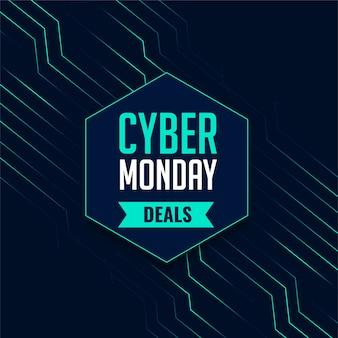 Quadro indicador de tecnologia de ofertas de cyber monday