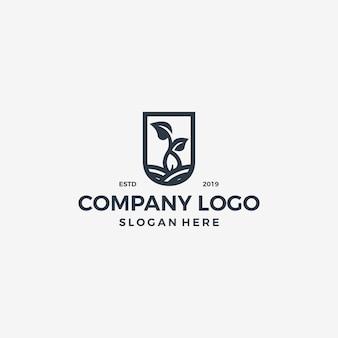 Quadro logotipo vetor único simples