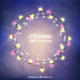 Quadro luzes de natal rodada
