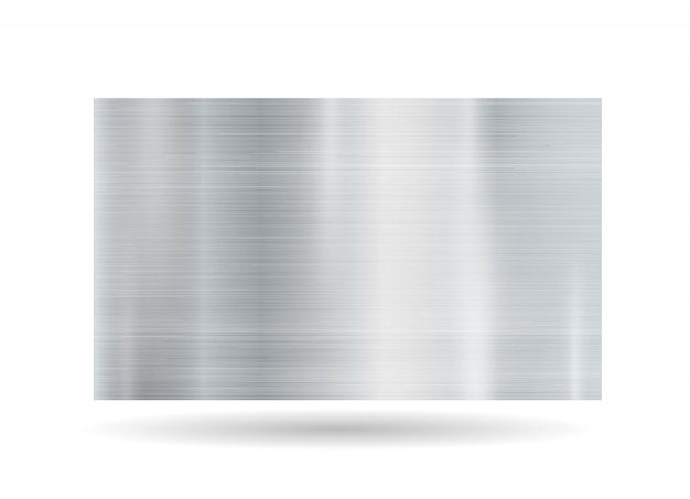 Quadro metálico abstrato no fundo branco