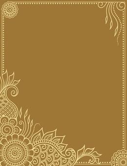 Quadro na tradição oriental. mandala inferior no estilo mehndi.