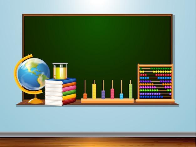 Quadro-negro com elemento de aprendizagem