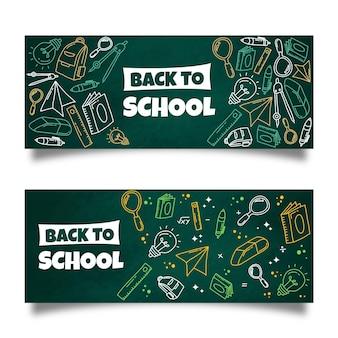 Quadro-negro para banners de escola