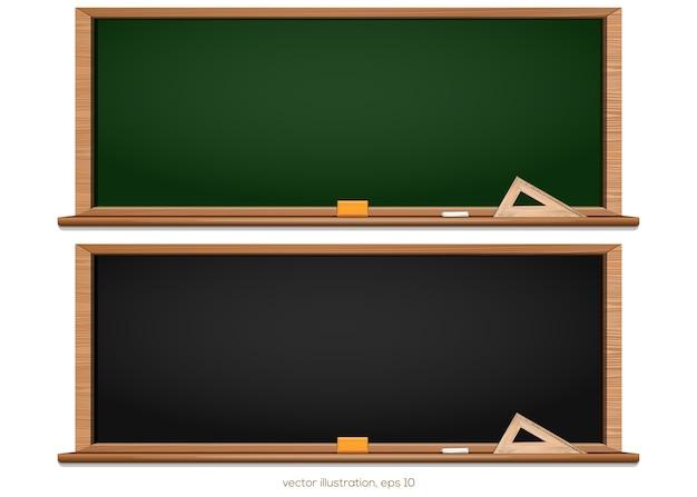 Quadro-negro. quadro-negro preto e verde. de volta à escola.