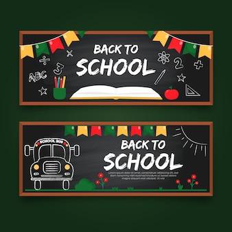 Quadro-negro volta ao modelo de banners de escola