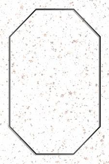 Quadro octógono preto sobre fundo de mármore branco