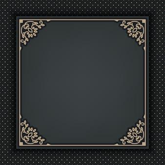 Quadro ornamental em cinza escuro