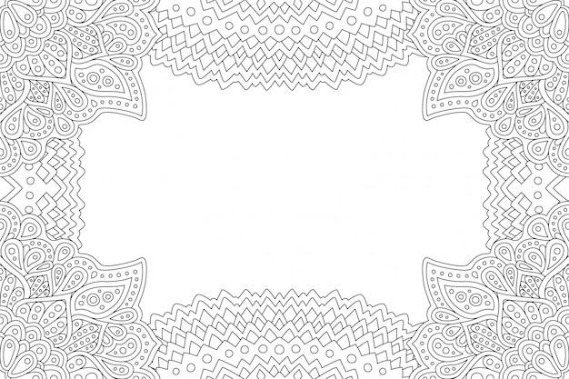 Quadro para colorir a página do livro com espaço de cópia