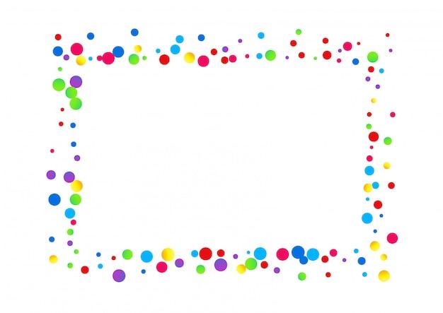 Quadro pontilhado arco-íris