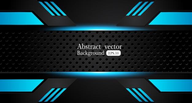 Quadro preto azul metálico abstrato
