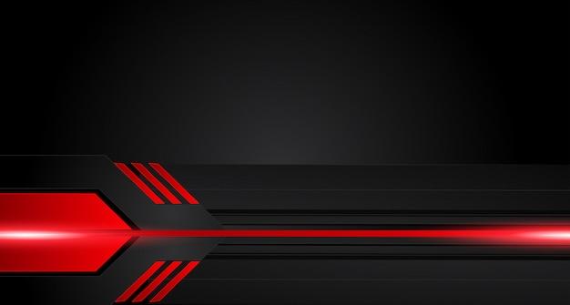 Quadro preto vermelho metálico abstrato