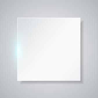 Quadro quadrado em branco. fundo simples
