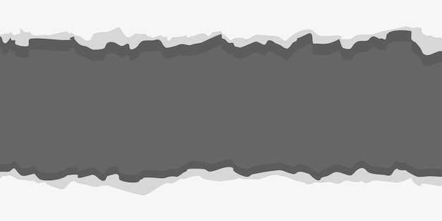 Quadro rasgado de papel branco sobre fundo cinza