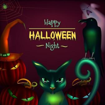 Quadro realista de halloween
