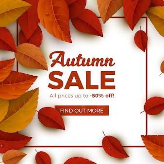 Quadro realista de venda outono