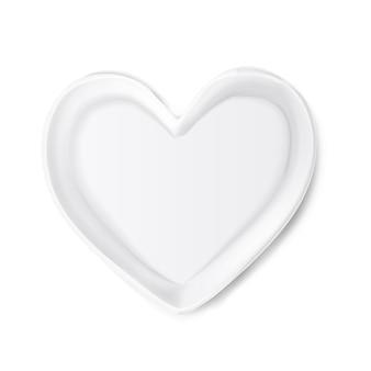 Quadro realista em forma de coração. símbolo do dia dos namorados Vetor Premium