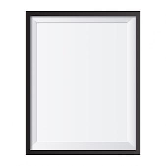 Quadro realista isolado no fundo branco ideal para as suas apresentações vector a ilustração
