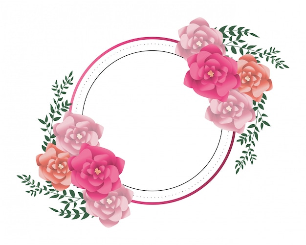 Quadro redondo de flores
