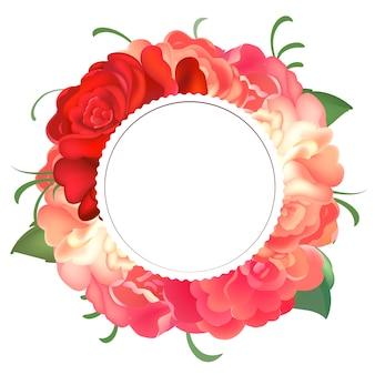 Quadro redondo de rosas.