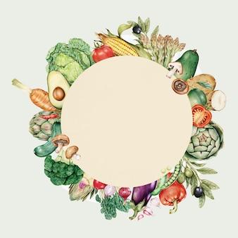 Quadro redondo de vegetais