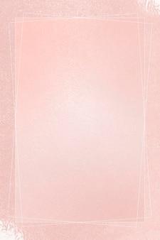 Quadro retângulo no modelo de fundo rosa