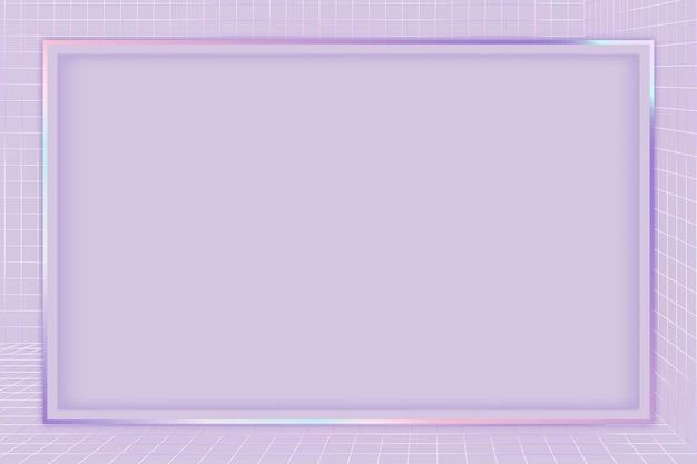 Quadro roxo com padrão de grade 3d