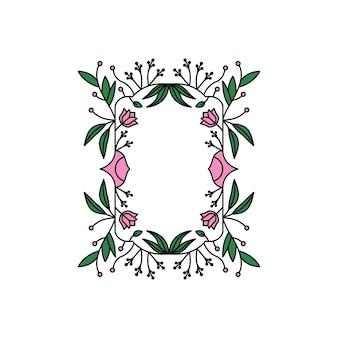 Quadro simples flor monoline