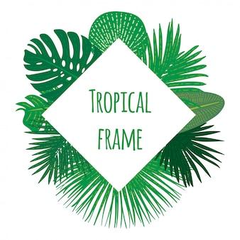Quadro tropical desenhada de mão